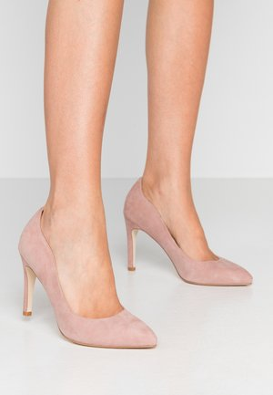 LEATHER HIGH HEELS - High heels - rose