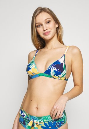 GATHERED REMOVABLE PAD - Bikini top - blue