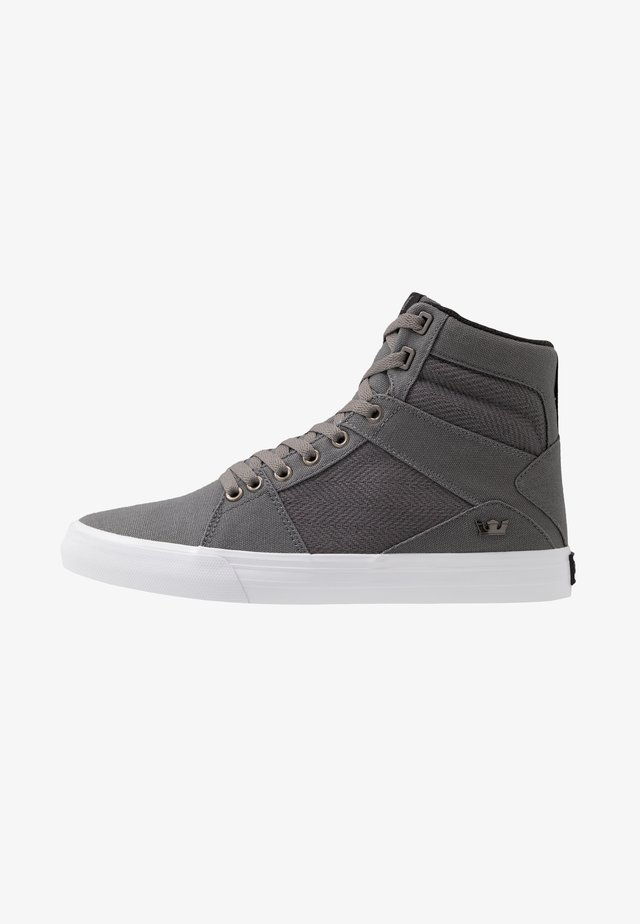 ALUMINUM - High-top trainers - grey/black/white