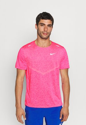 RISE - Basic T-shirt - hyper pink/heather/silver