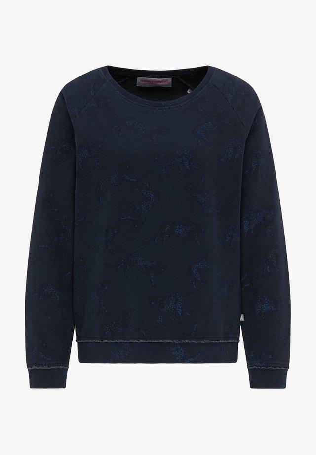 SWEATSHIRT MIT ALLOVER-TIERPRINT - Sweatshirt - midnight blue