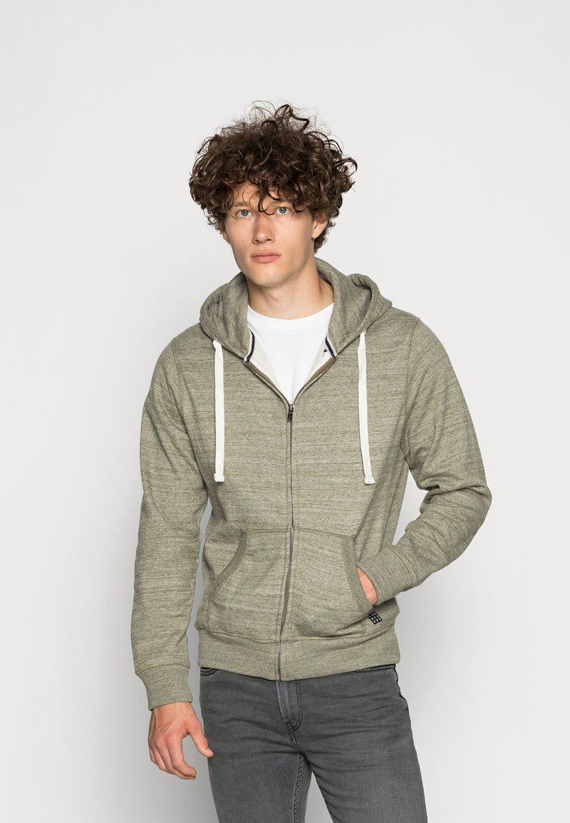 Blend - Zip-up sweatshirt - forest night green