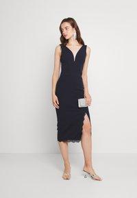 WAL G. - CHANTELLE MIDI DRESS - Jersey dress - navy blue - 1