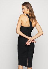 Hervé Léger - ONE SHOULDER ICONIC - Pouzdrové šaty - black - 2