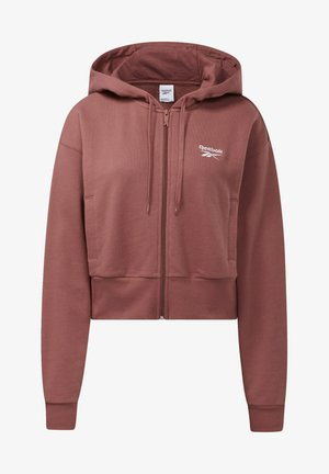 CLASSIC SMALL LOGO FULL ZIP FOUNDATION CASUAL HOODIE - Sweater met rits - red
