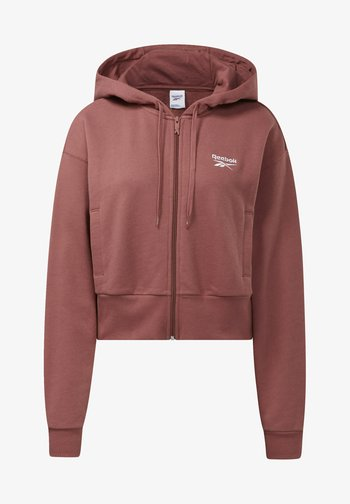 CLASSIC SMALL LOGO FULL ZIP FOUNDATION CASUAL HOODIE