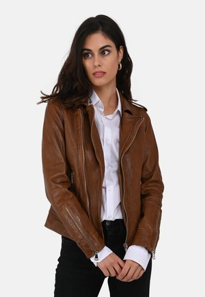 MANGA - Leather jacket - brown