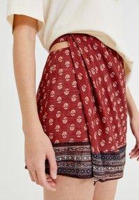 PULL&BEAR - Wrap skirt - mottled light red - 3