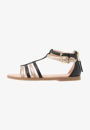 KARLY GIRL - Sandals - black/platinum