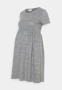 MAMALICIOUS - MLCAILA DRESS - Sukienka dzianinowa - medium grey melange - 0