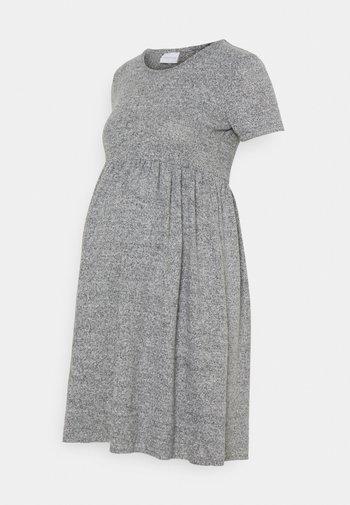 MLCAILA DRESS - Gebreide jurk - medium grey melange