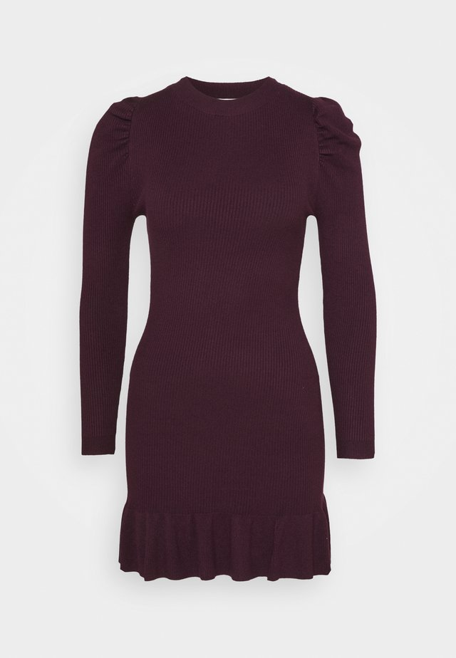 JUMPER DRESS - Gebreide jurk - fig