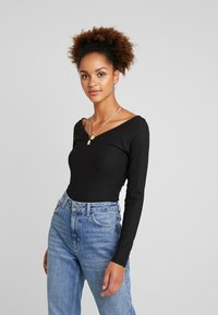 ONLY - ONLMOLLY V NECK - Long sleeved top - black - 0