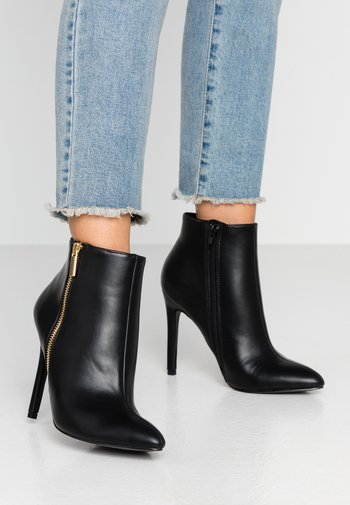 High heeled ankle boots