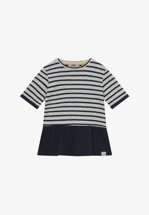 BENITA - T-shirt med print - offwhite/dark navy