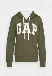GAP - Zip-up hoodie - army green - 3