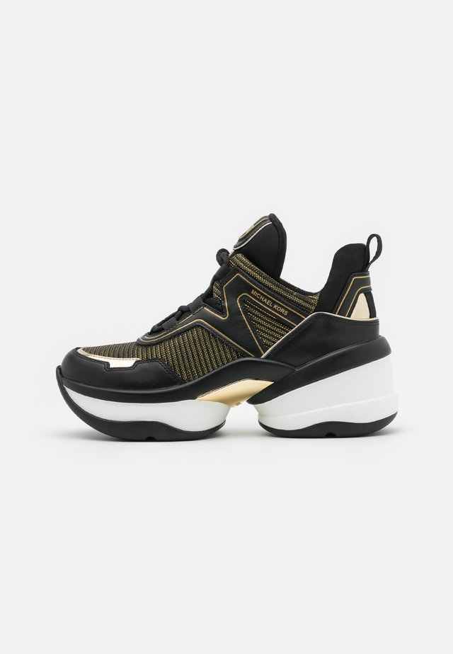 OLYMPIA TRAINER - Sneakers - black/gold