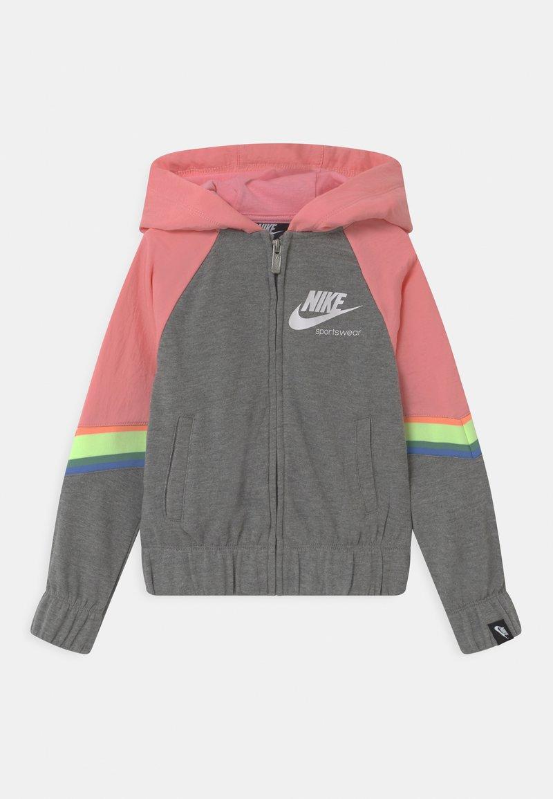 Nike Sportswear - HERITAGE  - Mikina na zip - carbon heather