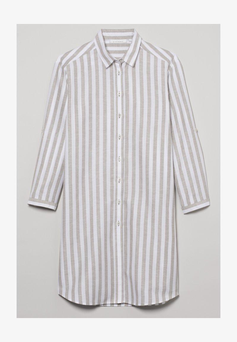 Eterna - MODERN CLASSIC - Button-down blouse - khaki weiss