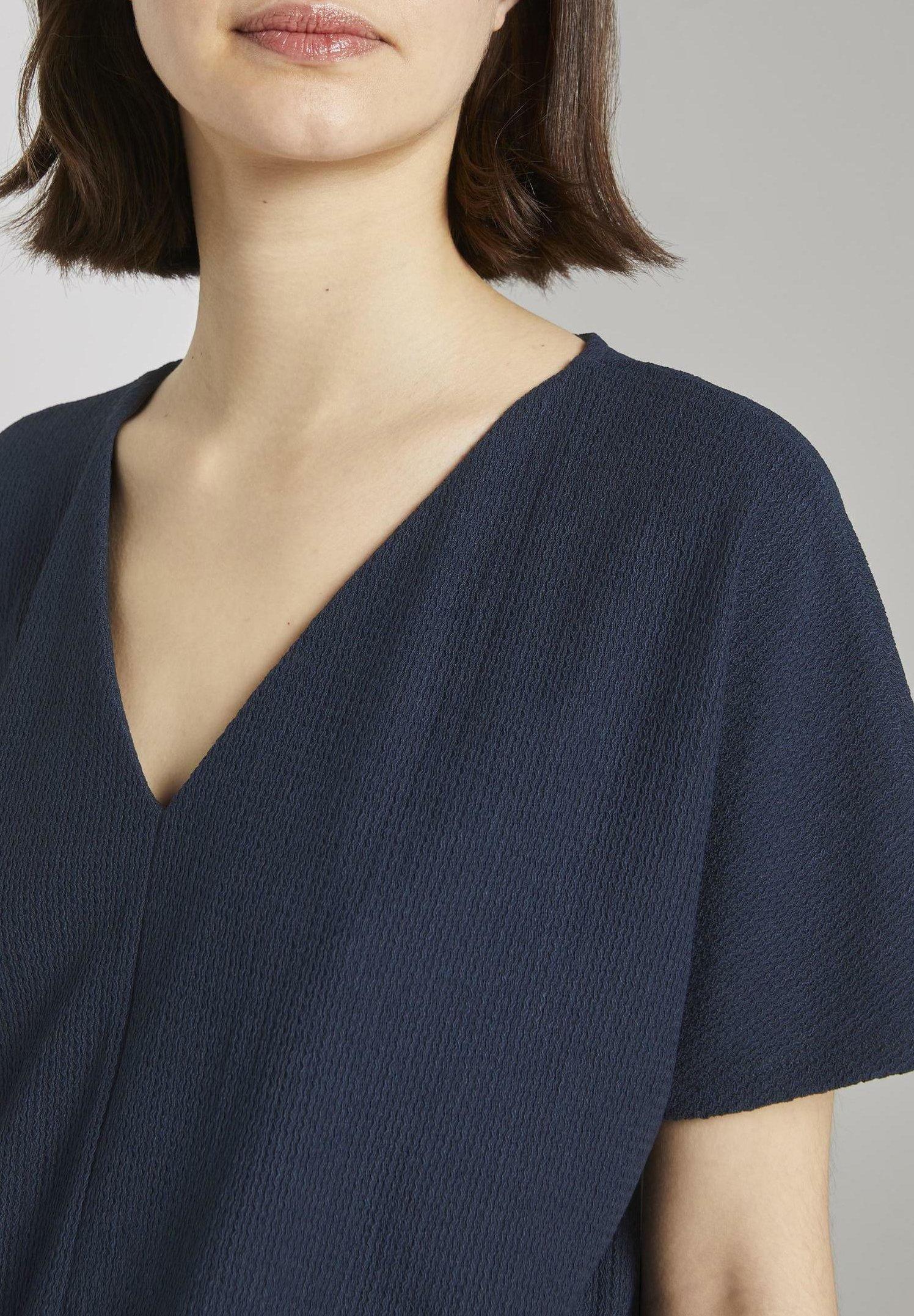 Tom Tailor Denim T-shirts - Real Navy Blue/mørkeblå