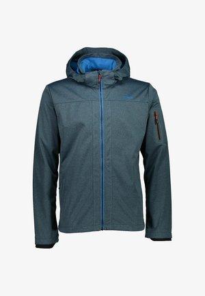 MIT KAPUZE - Soft shell jacket - hellblau