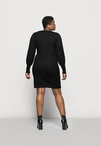 Pieces Curve - PCPAM V-NECK DRESS - Jumper - black - 2