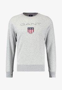 GANT - SHIELD C NECK - Sweatshirt - grey melange - 4
