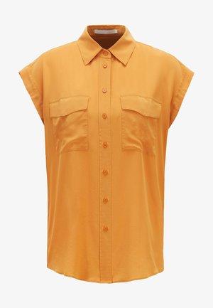 Button-down blouse - open yellow