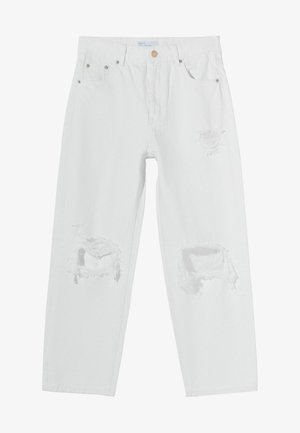 Džíny Straight Fit - white