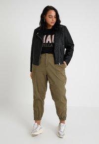 Even&Odd Curvy - Faux leather jacket - black - 1