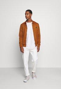 Ben Sherman - TRICOT COLLAR ZIP THROUGH - Training jacket - caramel - 1