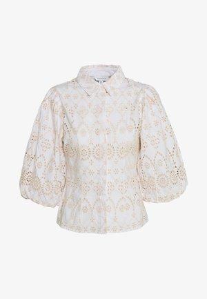 BALLOON SLEEVE - Button-down blouse - white
