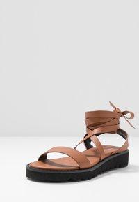 Even&Odd - Sandals - cognac - 4