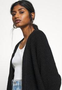 Selected Femme Petite - SLFLULU LONG CARD  - Cardigan - black - 5