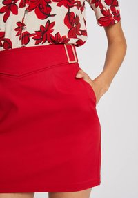 Morgan - WITH BUCKLES - Pencil skirt - red - 3