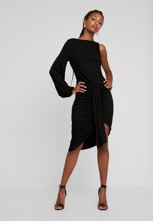 TIE FRONT BODYCON DRESS - Cocktail dress / Party dress - black