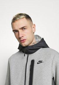 Nike Sportswear - HOODE MIX - Tröja med dragkedja - dark grey heather/iron grey/black - 3
