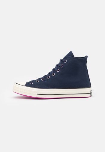 CHUCK 70 HEART OF THE CITY UNISEX - High-top trainers - obsidian/bold citron/egret