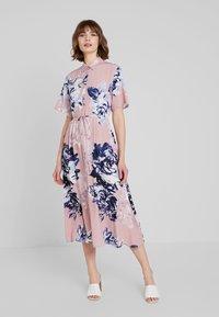 French Connection - CORSETTA DRAPE DRESS - Maxi dress - cinder pink/multi - 0
