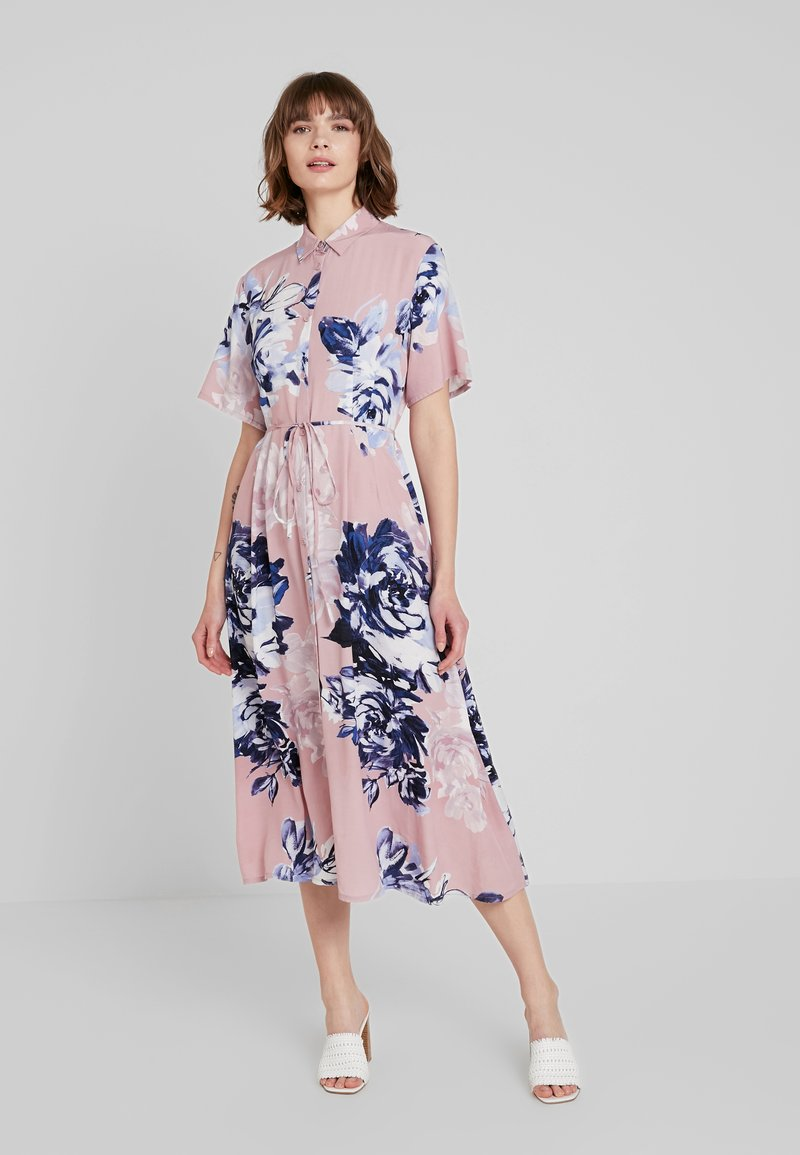 French Connection - CORSETTA DRAPE DRESS - Maxi dress - cinder pink/multi