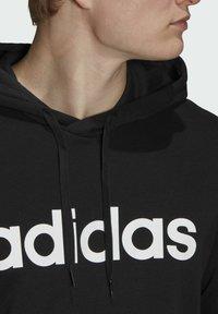 adidas Performance - ESSENTIALS FRENCH TERRY LINEAR LOGO HOODIE - Luvtröja - black - 5