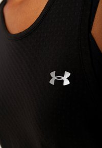 Under Armour - SPORT GRAPHIC TANK - Sports shirt - black/metallic silver - 5