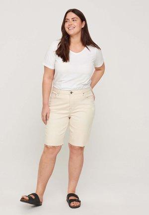 Denim shorts - light yellow