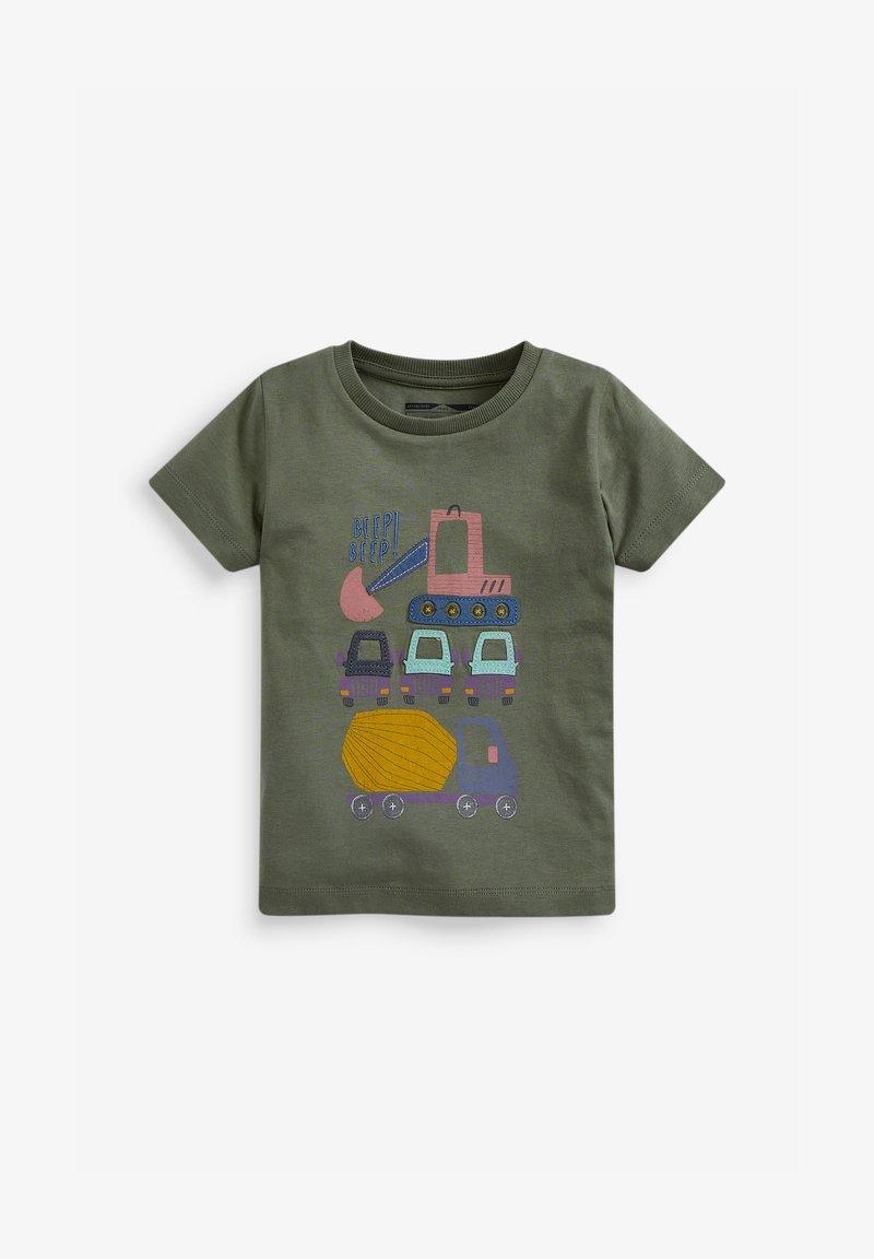 Next - T-shirt print - khaki