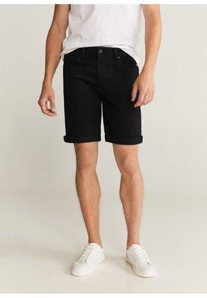 SKIRT - Denim shorts - black denim