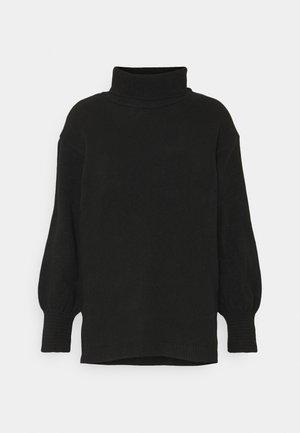 Long line turtle neck - Pullover - black
