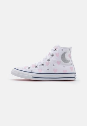 CHUCK TAYLOR ALL STAR UNISEX - Korkeavartiset tennarit - white/pink/black