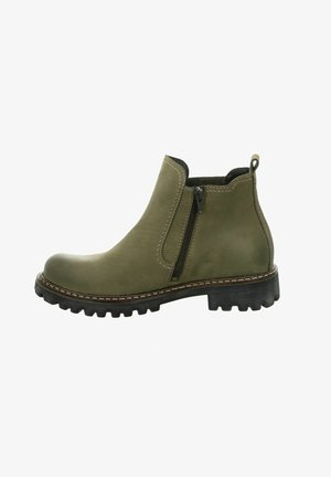 Platform ankle boots - oliv/kombi
