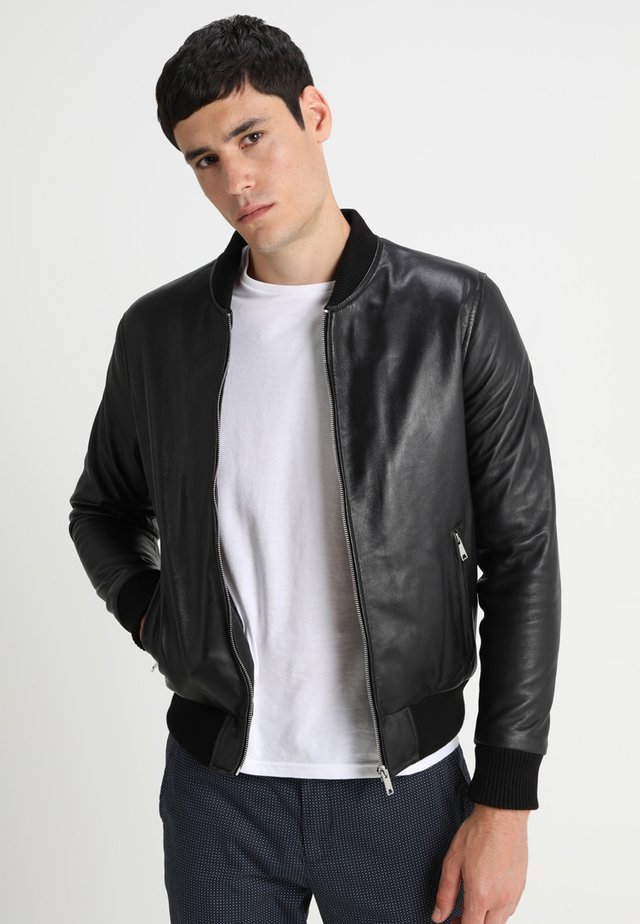 BONBON - Leather jacket - black