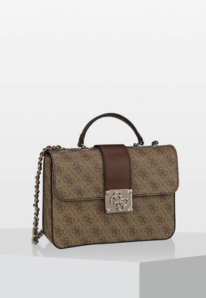 LOGO CITY CONVERTIBLE FLAP - Handbag - brown